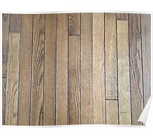 Hardwood Collection #1 - Dark Aged Wood Poster
