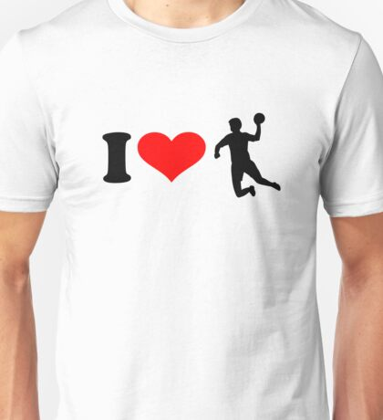 I love Handball player Unisex T-Shirt