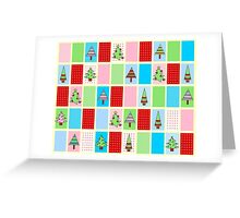 Christmas Squares Greeting Card