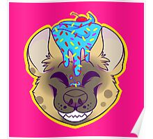 Cupcake Spotted Hyena Poster