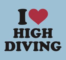 I love high diving Kids Tee