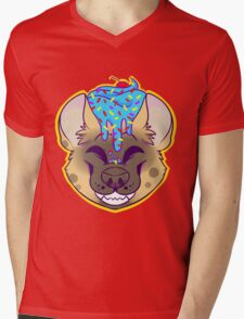 Cupcake Spotted Hyena Mens V-Neck T-Shirt