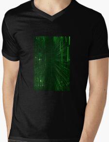 Green Lights - Matrix effect Mens V-Neck T-Shirt