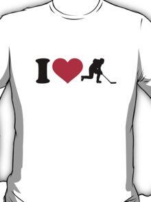 I love hockey player T-Shirt