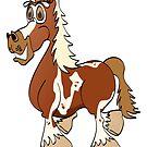 Pinto Horse Cartoon by Graphxpro
