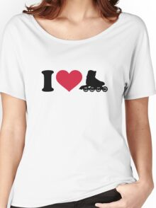 I love Inline skates Women's Relaxed Fit T-Shirt