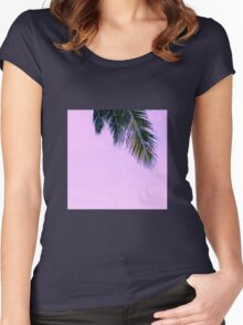 purple palm serenity Women's Fitted Scoop T-Shirt