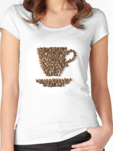 Coffee cup Women's Fitted Scoop T-Shirt