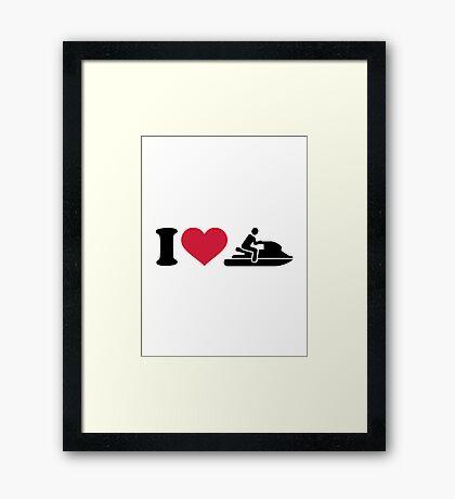I love Jet ski racing Framed Print