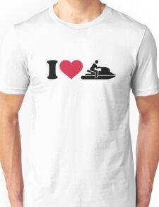 I love Jet ski racing Unisex T-Shirt
