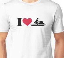 I love Jet ski racing Unisex T-Shirt
