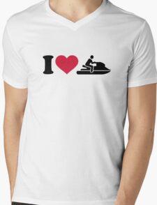I love Jet ski racing Mens V-Neck T-Shirt