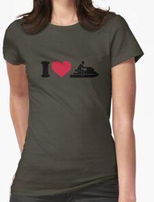 I love Jet ski racing Womens Fitted T-Shirt