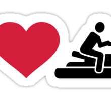 I love Jet ski racing Sticker