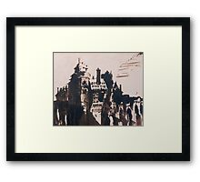 Chateau fortified by two Bridges Framed Print