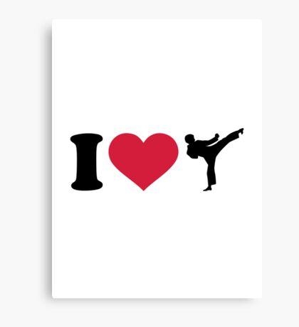 I love Karate Kickboxing Canvas Print