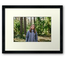 Selfportrait in the forest Framed Print