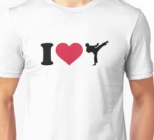 I love Karate Kickboxing Unisex T-Shirt