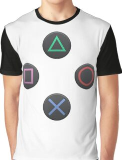 PS4 Controller Buttons Graphic T-Shirt