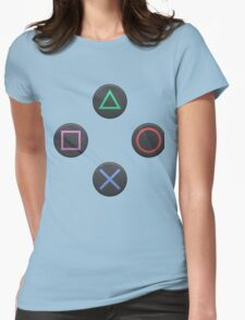 PS4 Controller Buttons Womens Fitted T-Shirt