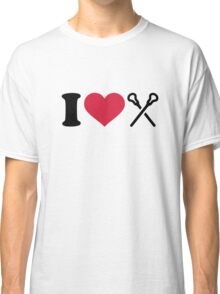 I love Lacrosse sticks Classic T-Shirt