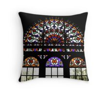 Rainbow Window Throw Pillow