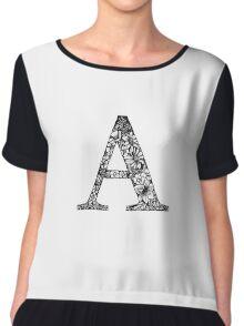 Alphabet Letter A Chiffon Top