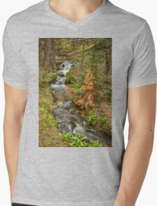 Rusty The Pine Tree and The Flowing Stream Mens V-Neck T-Shirt