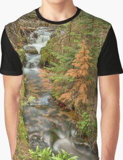 Rusty The Pine Tree and The Flowing Stream Graphic T-Shirt