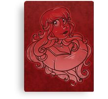 Zephyr Bust :Red: Canvas Print