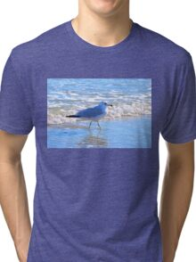 Wading In The Surf Tri-blend T-Shirt