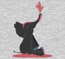 Painting Elephant One Piece - Short Sleeve