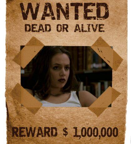 Buffy Faith Wanted Eliza Dushku 2 Sticker