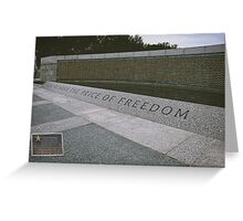 What Does Freedom Cost? Greeting Card