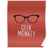geek monkey Poster