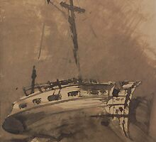 A Ship in Choppy Seas by Bridgeman Art Library