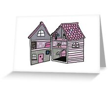 cute pink dollhouse Greeting Card