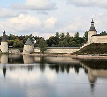 Pskov Kremlin in autumn by mrivserg