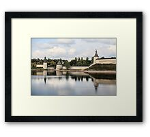 Pskov Kremlin in autumn Framed Print