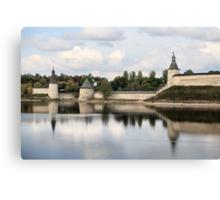 Pskov Kremlin in autumn Canvas Print