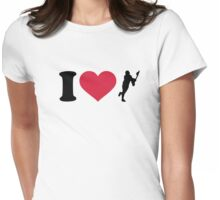 I love lacrosse player Womens Fitted T-Shirt