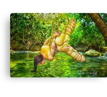 The River Gods Must Be Crazy Canvas Print