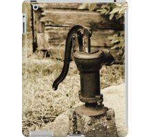 Antique Water Pump on a Concrete Cistern iPad Case/Skin
