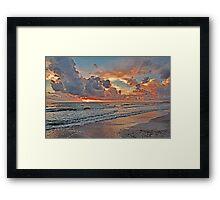 Evening Clouds  Framed Print