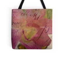 Orchid Grunge Layer Tote Bag