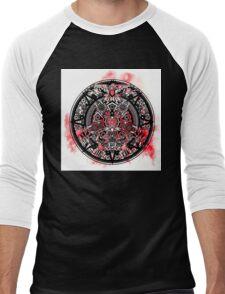 Watercolour Splash Aztec Mandala Men's Baseball ¾ T-Shirt