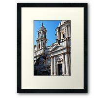 Bitter Rival  in Piazza Navona Framed Print