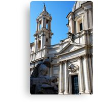 Bitter Rival  in Piazza Navona Canvas Print