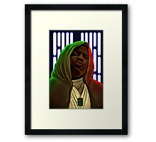 Jedis move in silence and violence Framed Print