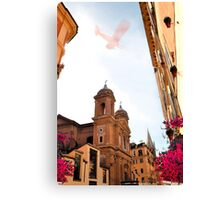 Ancient small street of Rome. Canvas Print